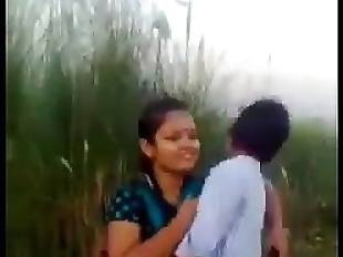 Desi Couple Romance And Kissing In Fields..
