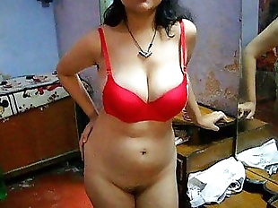 Bengali Indian Bhabhi Sexy Savita In Red..