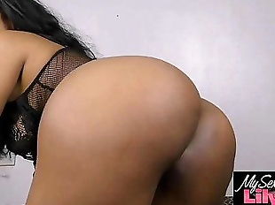 Beautiful Indian Babe Horny Lily In Black..