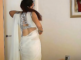 Indian College Girl Jasmine Mathur In White..