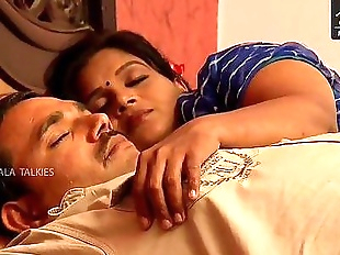 Indian House wife sharing bed with her Husband..