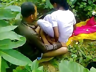 Indian school girl fucking teacher in outdoor..