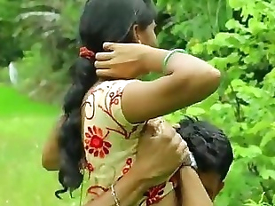 Sexy Indian desi girl fucking romance outdoor..