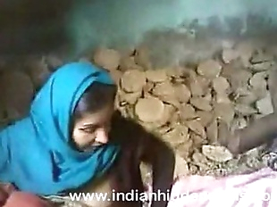 indian couple sex fucking at construction site..